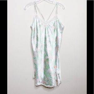 Victoria's Secret Satin Palm Tree Chemise Lingerie